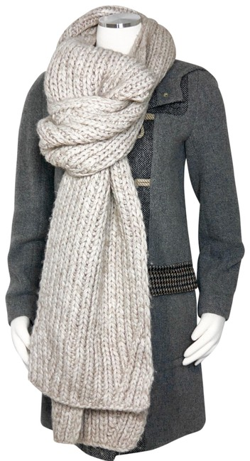 Item - Beige Wool Extra Long Soft Knit Scarf/Wrap