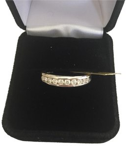 Other .50 Carat Diamond Band 18k White Gold Mens Women's Unisex