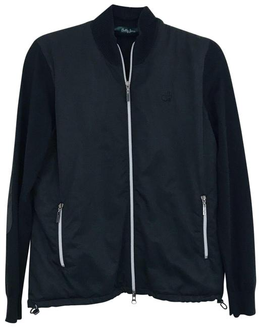 Item - Black Masters Zip Up Sweater Activewear Outerwear Size 4 (S)