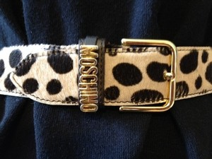 Moschino Moschino Leopard Print Leather Belt