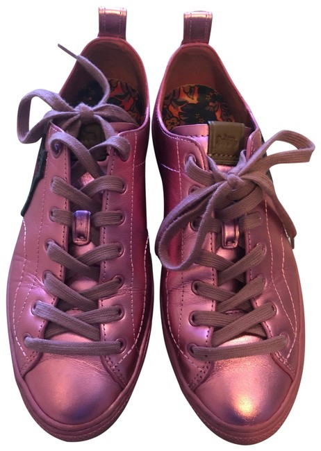 Item - Purple Leather Metallic Cherry Patches Lace Up Sneakers Size US 9 Regular (M, B)