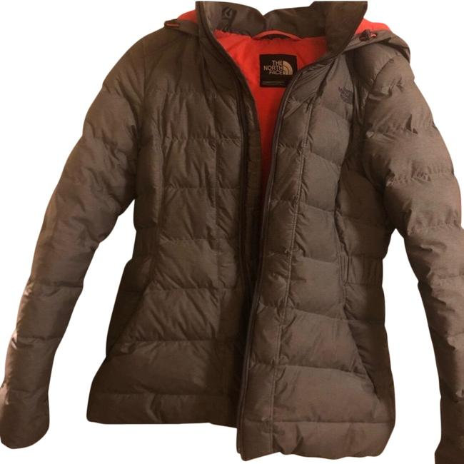 Item - Grey (Coral Lining) Down Winter Coat Size Petite 4 (S)