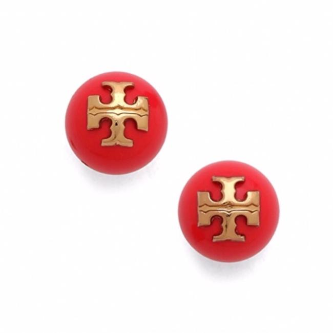 Item - Red • Evie Logo Earrings