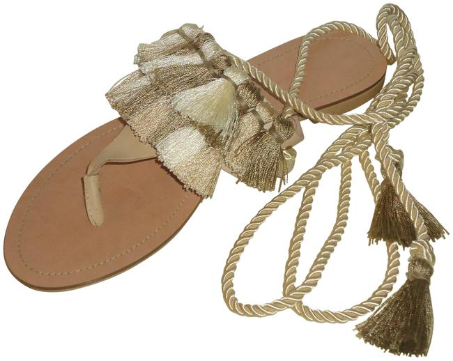 Item - Multi-color New Sold Out Fringe Flat Lace Up Sz.6 Sandals Size US 6 Regular (M, B)