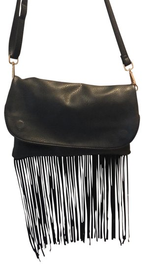Fringe Black Faux Leather