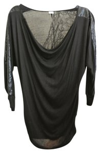 Three Dots Sequeined Sleeves Tunic