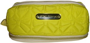 Betsy New! Must See Beautiful Betsy Johnson Yellow Quilted Cosmetic Case