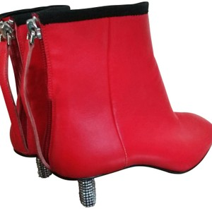 Calvin Klein 205W39NYC Red silver black Boots