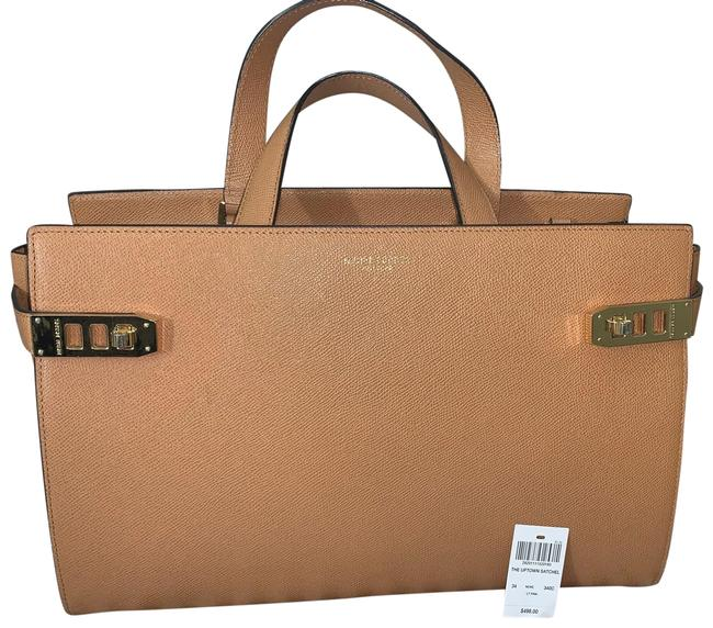 Item - The Uptown Lt Brown Pebbled Leather Satchel