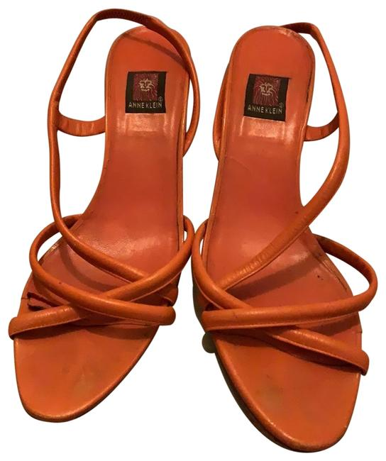 Item - Orange Leather Sandals Size US 10 Regular (M, B)