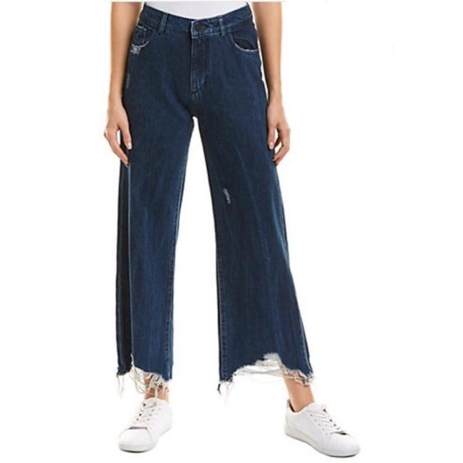 DL1961 Rawhem Highwaist Highrise Trouser/Wide Leg Jeans-Medium Wash Image 1