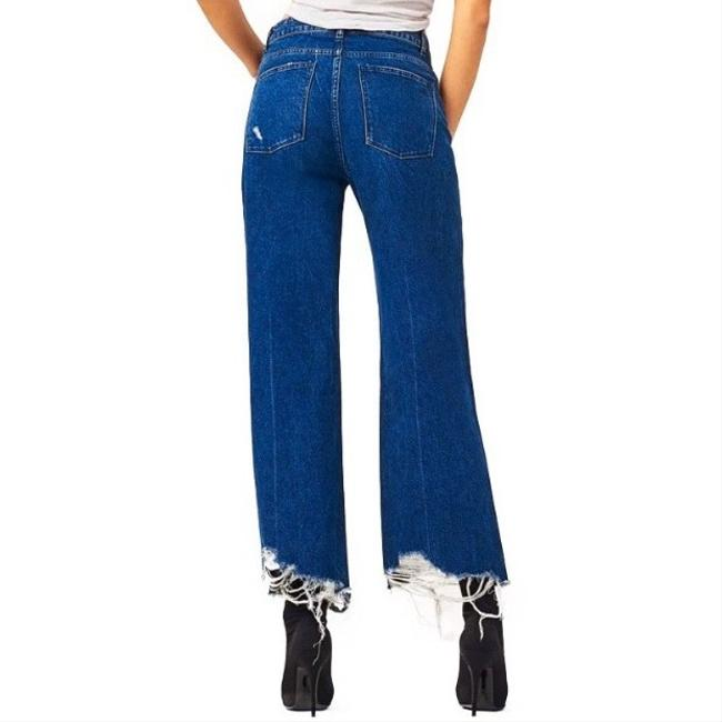 DL1961 Rawhem Highwaist Highrise Trouser/Wide Leg Jeans-Medium Wash Image 5