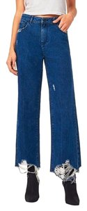 DL1961 Rawhem Highwaist Highrise Trouser/Wide Leg Jeans-Medium Wash