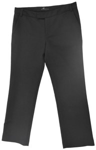 The Row Lightweight Flat Front Classic Wool Trouser Pants Black