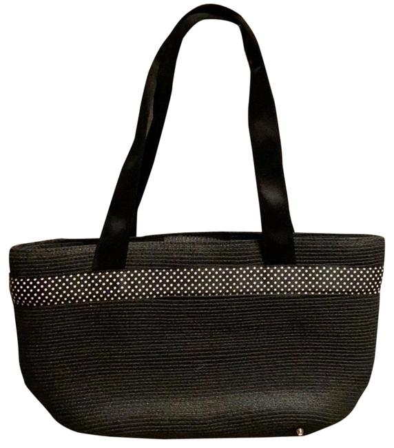 Item - Handbag New Without Tags Black Cloth and Synthetic Weave Satchel