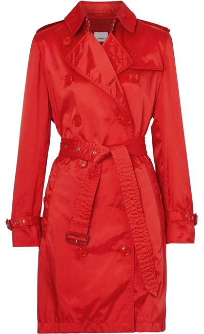 Item - Red Detachable Hood Technical Nylon Coat Size 8 (M)