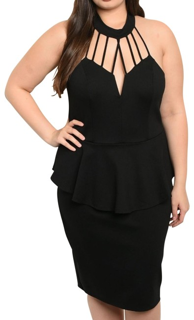 Item - Black Short Night Out Dress Size 22 (Plus 2x)