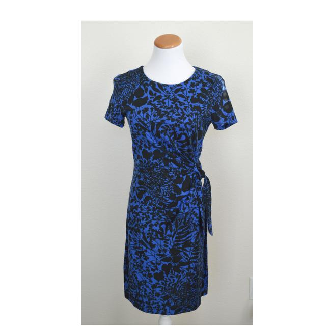 Diane von Furstenberg Blue/Black Zoe Work/Office Dress Size 4 (S) Diane von Furstenberg Blue/Black Zoe Work/Office Dress Size 4 (S) Image 1