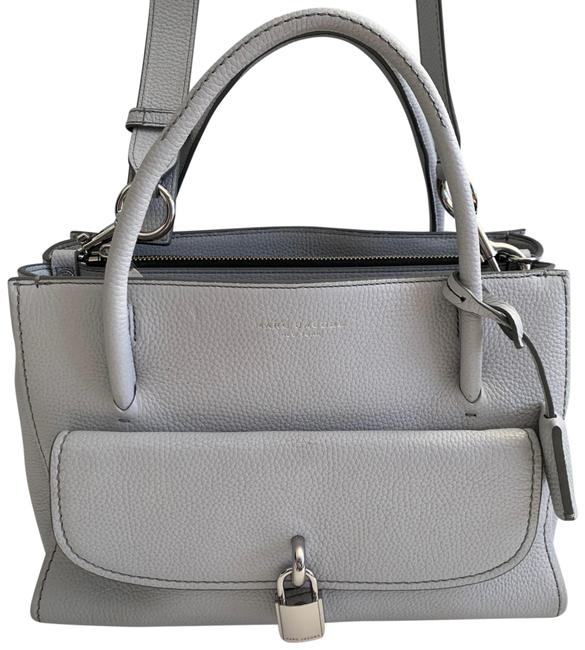 """Marc Jacobs """"Lock That"""" Gray Pebbled Leather Tote Marc Jacobs """"Lock That"""" Gray Pebbled Leather Tote Image 1"""