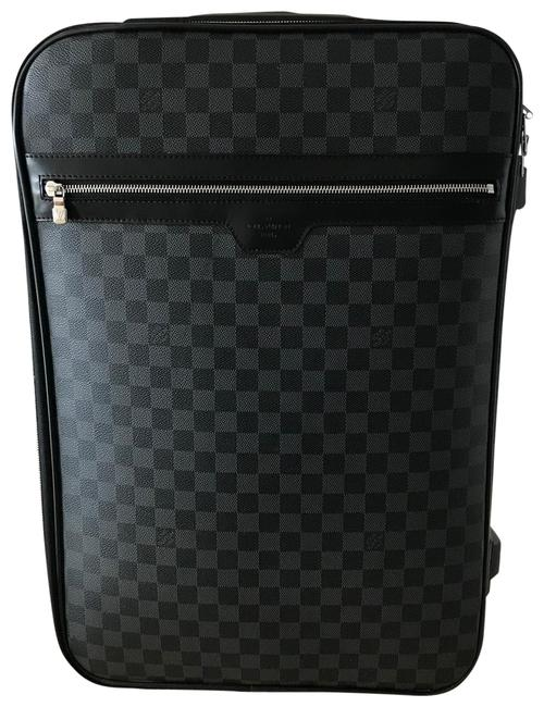 Item - Pegase 55 Rolling Suitcase Damier Graphite Black and Grey Canvas Weekend/Travel Bag