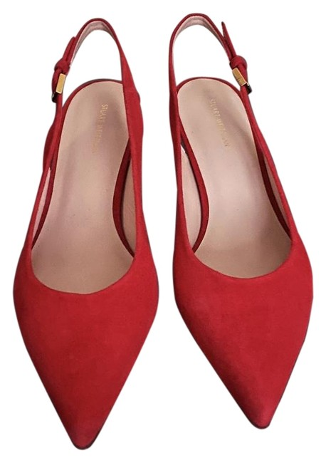 Item - Red Vero Cuoio Suede Heels Pumps Size US 9 Regular (M, B)