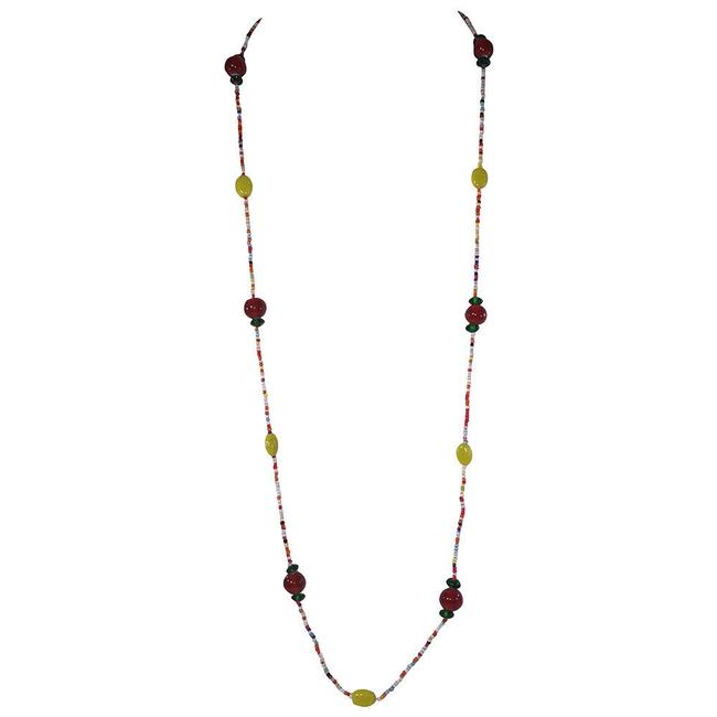 Item - Multicolor Indian Blown Glass Bead Necklace