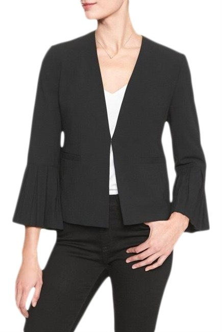 Item - Black Pleat Sleeve Blazer Size 4 (S)
