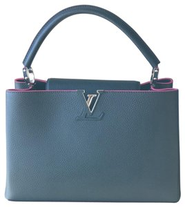 Louis Vuitton Satchel in Blue/pink