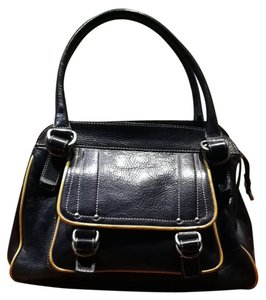 Marc Jacobs Satchel in BLACK W TAN TRIM