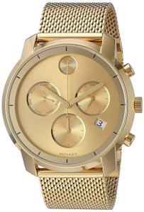 Movado Stainless Steel Mesh Bold Chronograph Mens 3600372