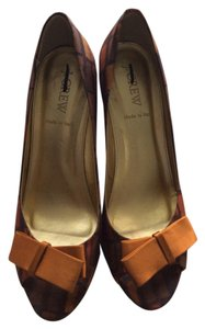 J.Crew Brown Multi Pumps