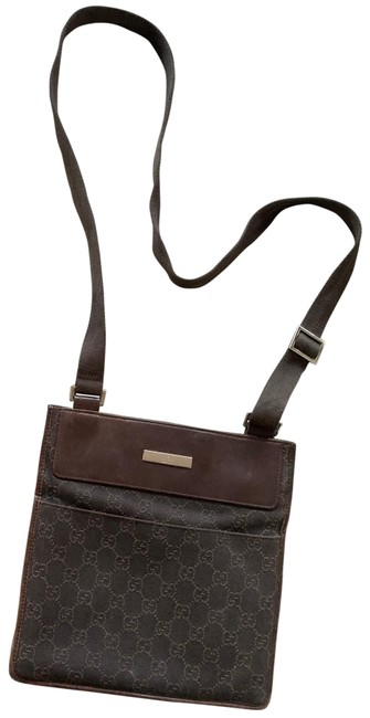 Item - Gg Chocolate Brown Canvas Messenger Bag