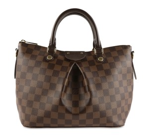 Louis Vuitton Damier Canvas Leather Gold Hardware Satchel in Brown