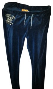 Juicy Couture Juicy Couture navy velour pants XXL