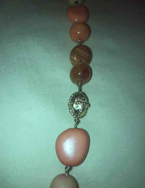 Chico's Coral Amber Gold Long Single-strand Necklace Chico's Coral Amber Gold Long Single-strand Necklace Image 4