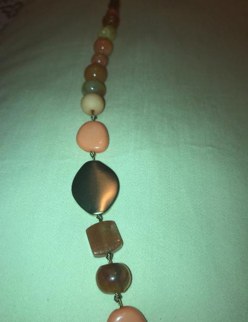 Chico's Coral Amber Gold Long Single-strand Necklace Chico's Coral Amber Gold Long Single-strand Necklace Image 5