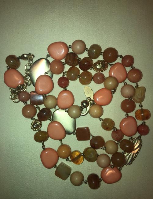 Chico's Coral Amber Gold Long Single-strand Necklace Chico's Coral Amber Gold Long Single-strand Necklace Image 6