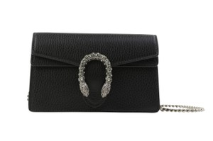 Gucci Leather Suede Silver Hardware Cross Body Bag