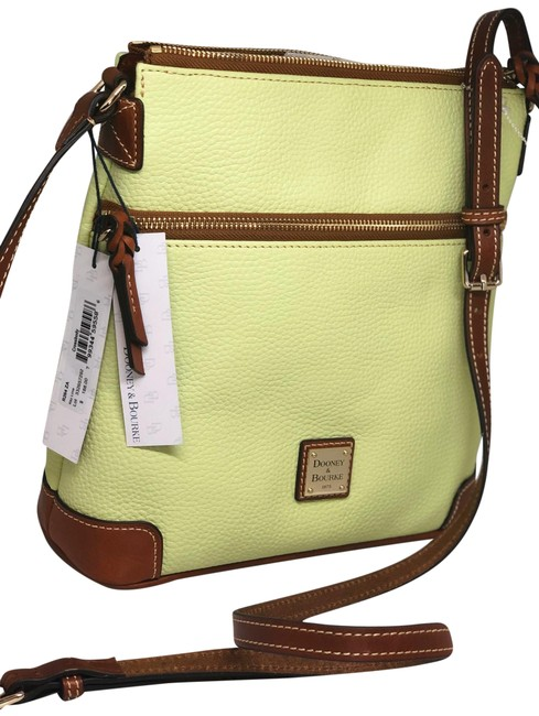 Dooney & Bourke Key Lime/Brown Leather Cross Body Bag Dooney & Bourke Key Lime/Brown Leather Cross Body Bag Image 1