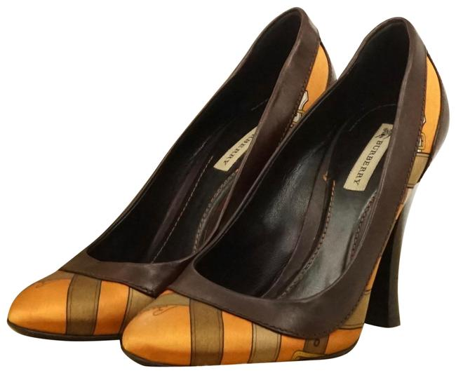 Item - Orange Silk Leather #787b10 Pumps Size EU 37 (Approx. US 7) Wide (C, D)