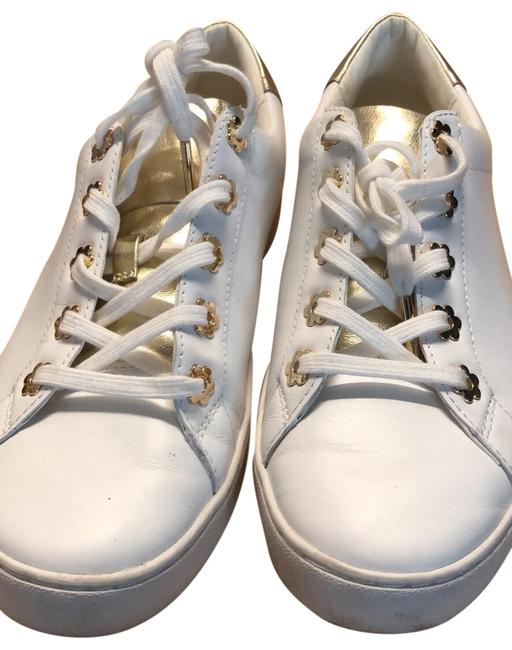 Item - White with Gold Mk Sneakers Size US 7.5 Regular (M, B)