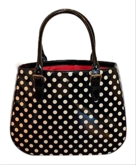 Item - Dotty Carlisle Street Black and Beige Patent Leather Tote