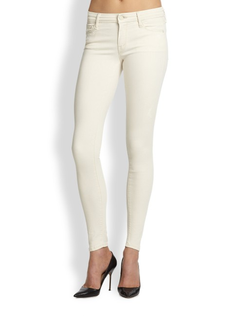 Item - Off White Light Wash The Looker Skinny Jeans Size 24 (0, XS)