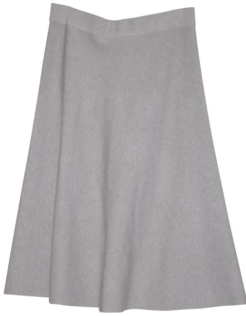 Item - Beige Jersey Brown Rayon Blend Knit A Line Skirt Size 12 (L, 32, 33)