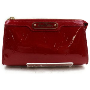 Louis Vuitton Monogram Vernis Red Cosmetic Pouch Trousse MM 871796