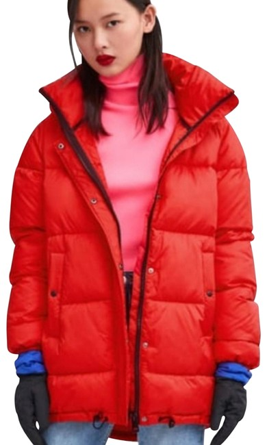 Item - Red Sorona Dupont Thermal Fill Puffer Jacket Coat Size 4 (S)