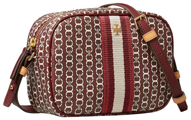 Item - Gemini Link New Royal Burgundy Canvas Cross Body Bag