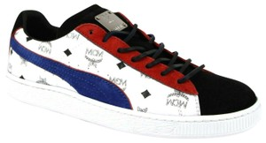 MCM Puma Women's Black/White/Blue Coated Canvas/Suede Black/White/Blue Athletic