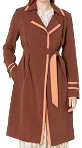 DREW Trench Trench Coat Long Brown Jacket