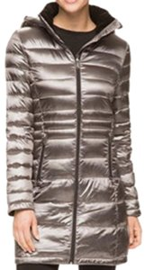 Andrew Marc Down Down Puffer Puffer Silver Jacket